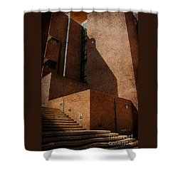 Stairway To Nowhere Shower Curtain by Lois Bryan