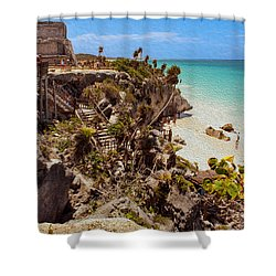 Stairway To The Tulum Beach  Shower Curtain