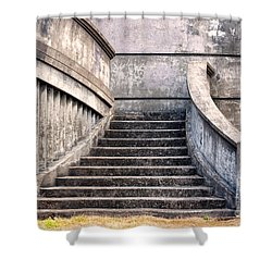 Stairway To The Unknown Shower Curtain by Sandra Bronstein