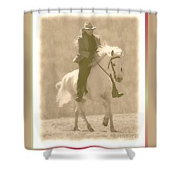Stallion Strides Shower Curtain by Patricia Keller