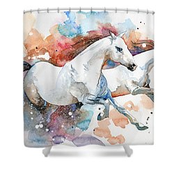 Stallions Shower Curtain