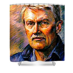 Stan Esson Self Portrait Shower Curtain by Stan Esson