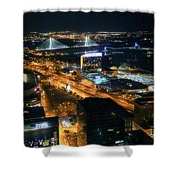 Stan Musial Bridge In St Louis Mo Dsc03215 Shower Curtain