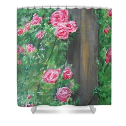 Shower Curtain featuring the painting Stand By Me by Jane  See