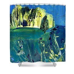 Stand Of Trees In Distance Shower Curtain