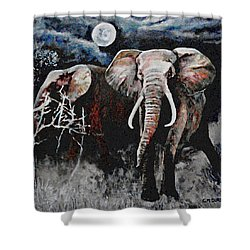 Stand Your Ground Shower Curtain by Michael Durst