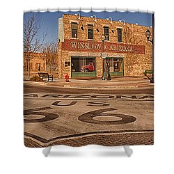 Standin' On The Corner Park Shower Curtain
