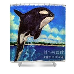 Shower Curtain featuring the painting Standing Above The Rest by Kimberlee Baxter