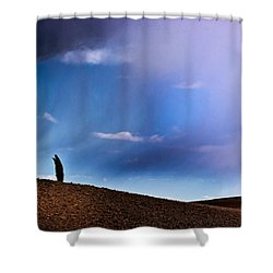 Standing Against The Wind Shower Curtain