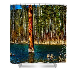 Standing Alone Shower Curtain by Omaste Witkowski