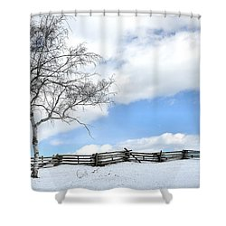 Standing Alone Shower Curtain by Todd Hostetter