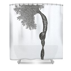 Standing Backward Bend Shower Curtain