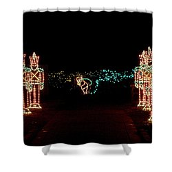 Standing Guard Shower Curtain by Rodney Lee Williams
