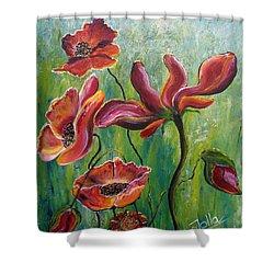 Standing High Shower Curtain by Jolanta Anna Karolska