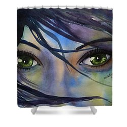 Wind Blown Shower Curtain