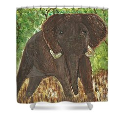 Shower Curtain featuring the painting Standing My Ground by Tracey Williams