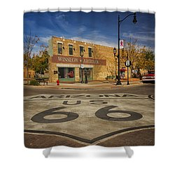 Standing On The Corner In Winslow Arizona Dsc08854 Shower Curtain