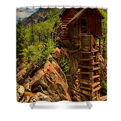 Standing Tall In Crystal Shower Curtain by Adam Jewell