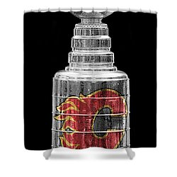 Stanley Cup Calgary Shower Curtain
