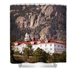Stanley Hotel Estes Park Shower Curtain by Marilyn Hunt