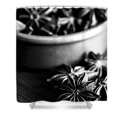 Star Anise Dish Shower Curtain by Anne Gilbert