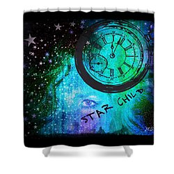 Star Child - Time To Go Home Shower Curtain