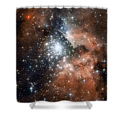 Star Cluster And Nebula Shower Curtain by Sebastian Musial