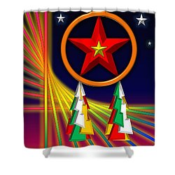 Shower Curtain featuring the digital art Star by Cyril Maza