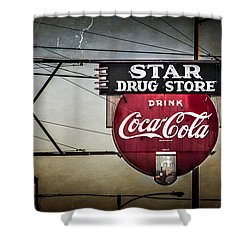 Star Drug Store 2 Shower Curtain by Perry Webster