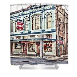 Star Drug Store - Store Front Shower Curtain by Scott Pellegrin