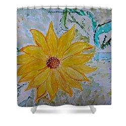 Star Flower Shower Curtain by Sonali Gangane
