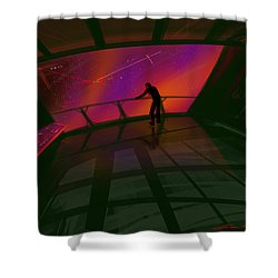 Star Gazer Shower Curtain by James Christopher Hill