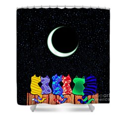 Star Gazers Shower Curtain by Nick Gustafson