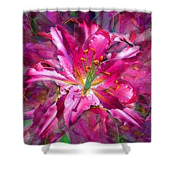 Star Gazing Stargazer Lily Shower Curtain