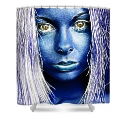 Star Girl Shower Curtain by Richard Thomas