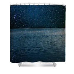 Star Island Shower Curtain by AR Annahita