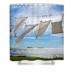 Star Island Clothesline Shower Curtain