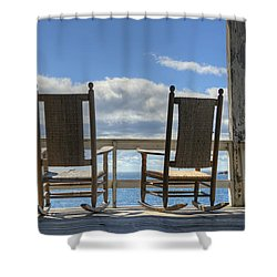 Star Island Rocking Chairs Shower Curtain