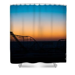 Star Jet Roller Coaster Silhouette  Shower Curtain by Michael Ver Sprill