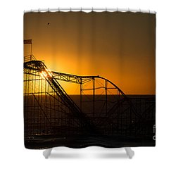 Star Jet Silhouette Shower Curtain by Michael Ver Sprill