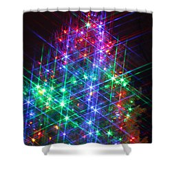 Shower Curtain featuring the photograph Star Like Christmas Lights by Patrice Zinck