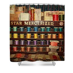 Star Mercerized Thread Display Shower Curtain by Janice Rae Pariza