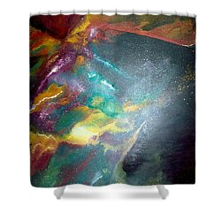 Star Nebula Shower Curtain by Carrie Maurer