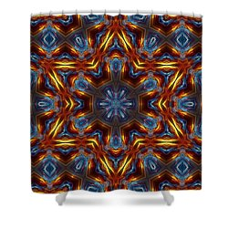 Star Of David Shower Curtain by Lilia D