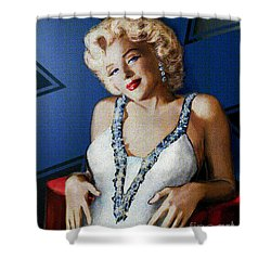 Star Of Wife Shower Curtain by Theo Danella