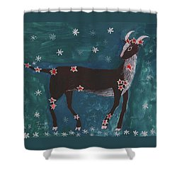 Star Sign Capricorn Shower Curtain by Sushila Burgess