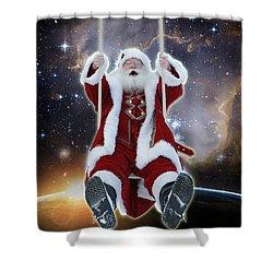Santa's Star Swing Shower Curtain