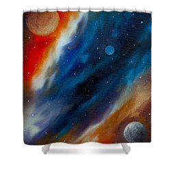 Star System 2034 Shower Curtain by James Christopher Hill