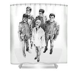 Star Trek - Meeting With V'ger Shower Curtain by Liz Molnar