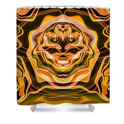 Shower Curtain featuring the painting Star Trek by Omaste Witkowski